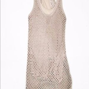 Club Monaco Abigail Crochet Dress. Linen Blend